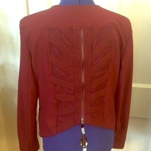Maroon zip back blazer sz XL
